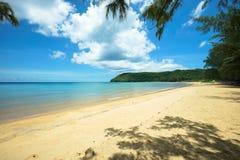一个美妙的海滩在越南 免版税图库摄影