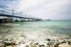 一个美妙的海洋海的风景、看法和海滩 免版税图库摄影