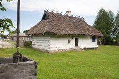 一个老乌克兰房子在一个露天博物馆 图库摄影