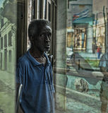 一个老人的抽象图象从哈瓦那的 免版税库存照片