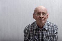 一个老人的画象 免版税库存图片