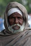 一个老人的画象从旁遮普邦,印度的 图库摄影