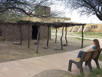 一个老使命, Tumacacori全国历史公园 免版税图库摄影