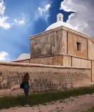 一个老使命, Tumacacori全国历史公园 库存照片