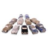 一个老俄国汽车模型被隔绝在白色背景 免版税图库摄影