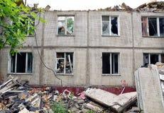 一个老公寓的爆破 免版税图库摄影