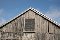 一个老农舍的边 免版税库存图片