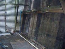 一个老冷却塔的内部 图库摄影