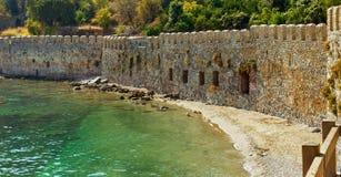 一个老堡垒的墙壁 免版税库存图片