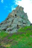 一个老堡垒的岩石废墟 库存照片
