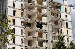 一个老塔的爆破在列斯mureaux 免版税图库摄影