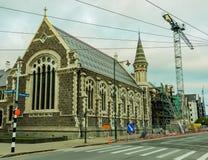 一个老大厦和建造场所的看法 库存图片