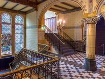 一个老大厦的历史的内部 免版税库存图片