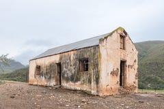 一个老大厦的废墟在Oude Muragie路的 免版税库存照片