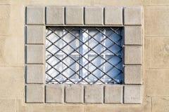 一个老大厦的窗口的细节在比萨,托斯卡纳 库存图片