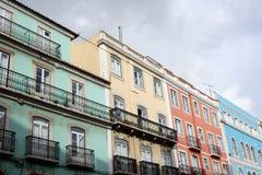 一个老大厦的详细资料在里斯本,葡萄牙 免版税库存图片
