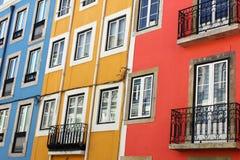 一个老大厦的详细资料,里斯本,葡萄牙 库存照片