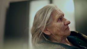 一个老妇人的面孔的外形 影视素材