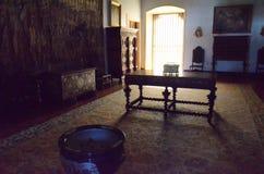一个老宫殿的内部在葡萄牙 免版税库存图片