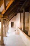 一个老宫殿的石柱子 免版税图库摄影