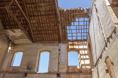 一个老工厂的废墟 库存照片