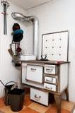 一个老德国火炉 免版税库存照片