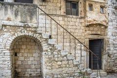 一个老房子在Porec克罗地亚 免版税库存图片
