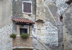 一个老房子在Porec克罗地亚 免版税图库摄影