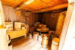 一个老房子的木内部 免版税库存图片