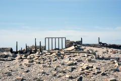 一个老房子的遗骸北海的 免版税库存照片