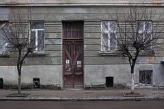 一个老房子的门面 库存图片