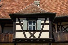 一个老房子的建筑细节在琥珀,德国。 图库摄影