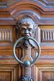 一个老拍板的垂直的看法有人的幻想面孔的在De 库存照片