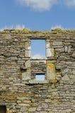 一个老教会的废墟在爱尔兰 库存照片