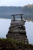 一个老木码头 免版税库存照片