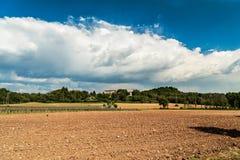 一个老村庄在意大利乡下 免版税图库摄影