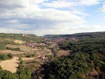 一个老村庄的视图 库存照片