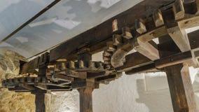 一个老橄榄色的磨房在北可西嘉岛 免版税库存照片