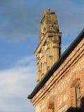 一个老殖民地大厦的细节。 库存图片