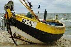 一个老渔船 库存照片