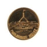 一个老澳大利亚议会安置硬币 库存图片