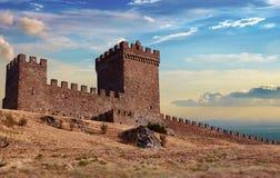 一个老热那亚人的堡垒 库存照片