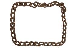 一个老生锈的铁链子的框架 库存照片