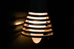 一个老电灯泡 库存照片
