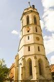 一个老石教会的雄伟塔 免版税库存照片