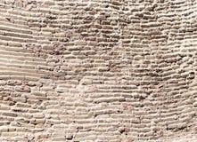 一个老砖墙的背景 免版税库存照片