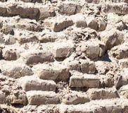 一个老砖墙的背景 库存图片