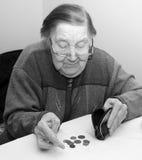 一个老祖母的画象 图库摄影