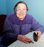 一个老祖母的画象 库存照片
