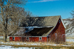 一个老红色谷仓 免版税图库摄影
